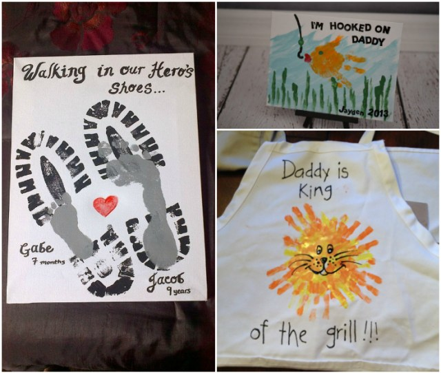 Easy Fathers Day Footprint And Handprint Crafts