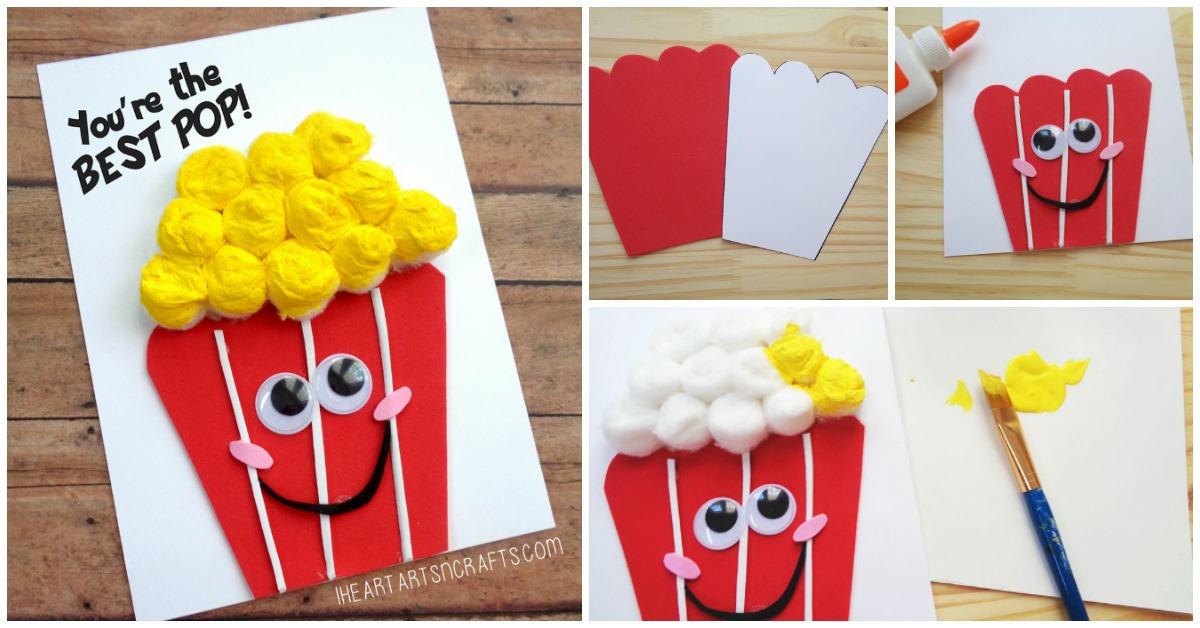 Fathers Day Youre The Best Pop Popcorn Card I Heart