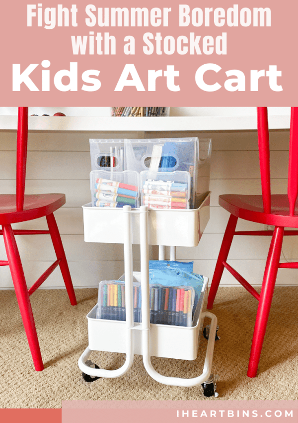 Fight Summer Boredom with a Stocked Kids Art Cart