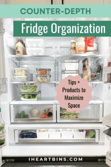 Organize a Counter Depth Fridge