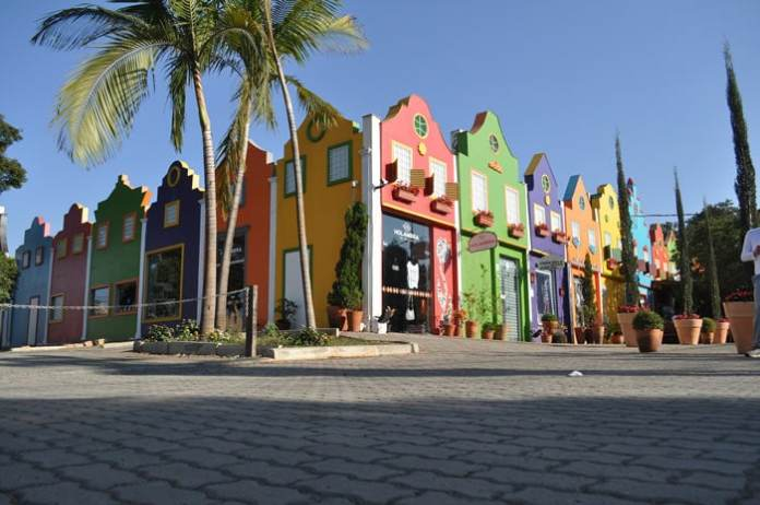 Colorful houses in Holambra, São Paulo. One of the prettiest Brazil tourist attractions