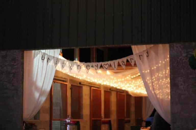 Christmas Lights Wedding