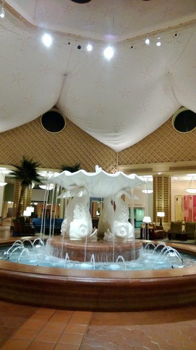 Lobby of the Dolphin Hotel. SWANK!