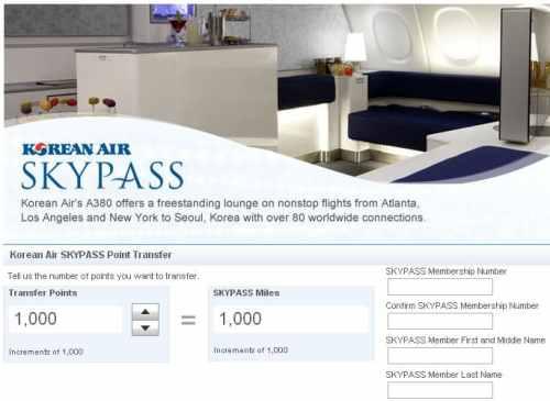 KoreanAir Skypass