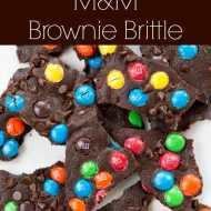 M&M Brownie Bark Recipe