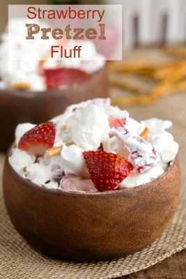 Strawberry Pretzel Fluff