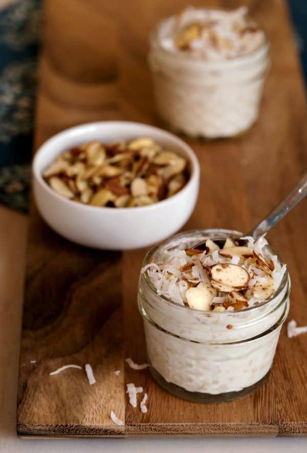 Coconut Almond Overnight Oats Recipe