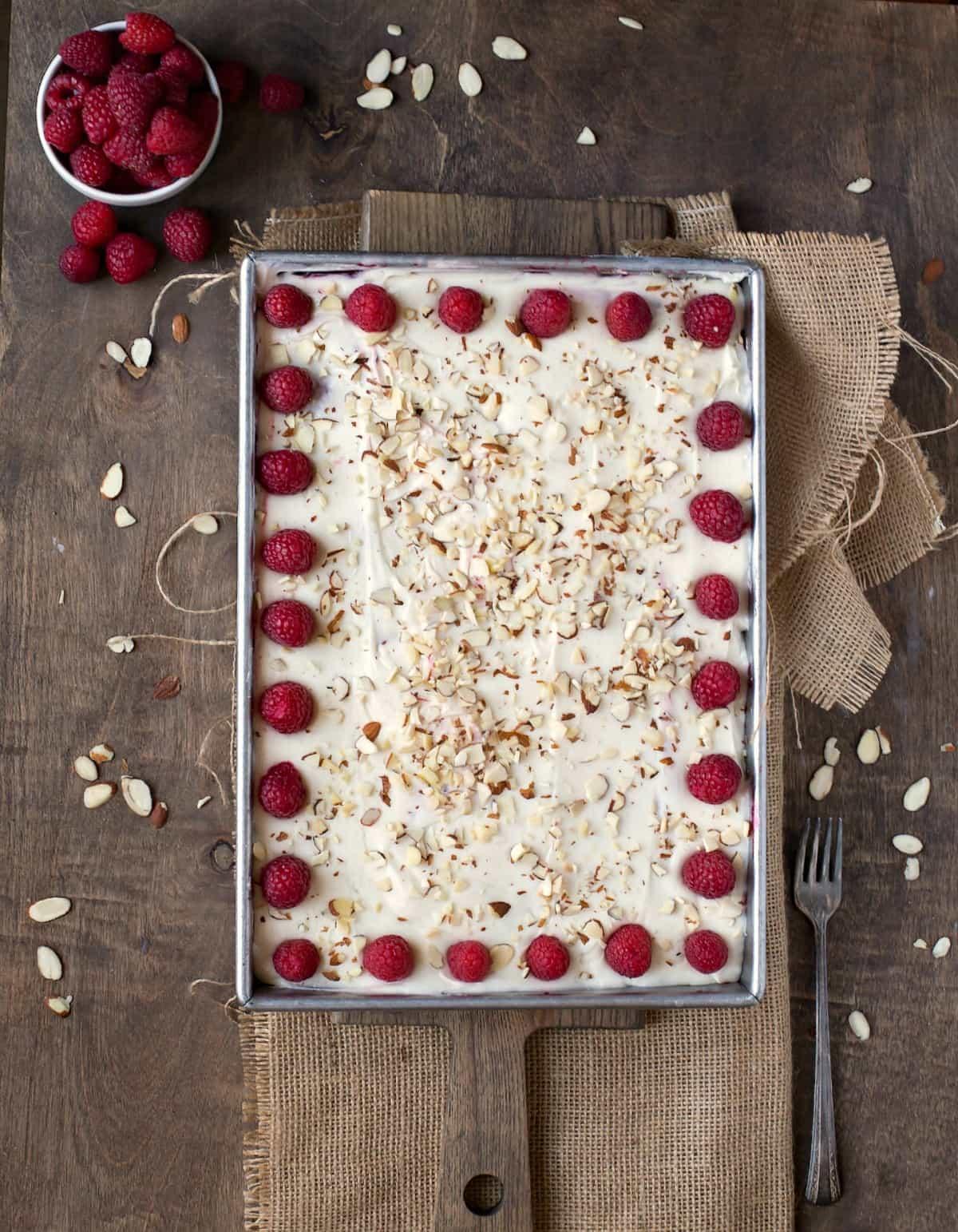 White Raspberry Poke Cake Recipe