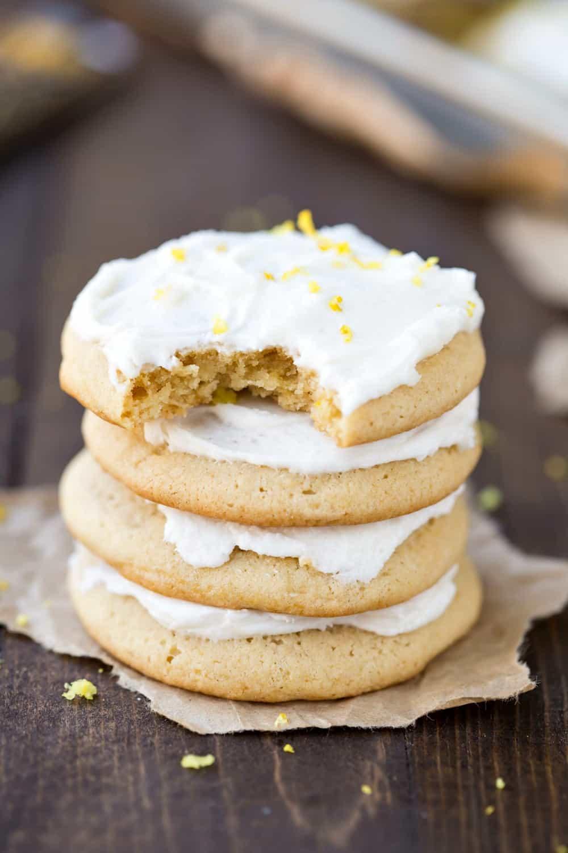 Lemon Sour Cream Sugar Cookies