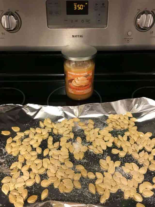 Save money in snacks and cook up those pumpkin seeds!