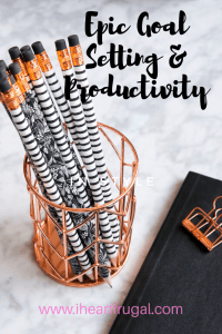 Epic Goal Setting & Productivity