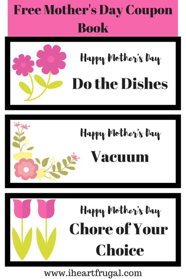 how to surprise mom this year free printable chore coupons i heart frugal. Black Bedroom Furniture Sets. Home Design Ideas