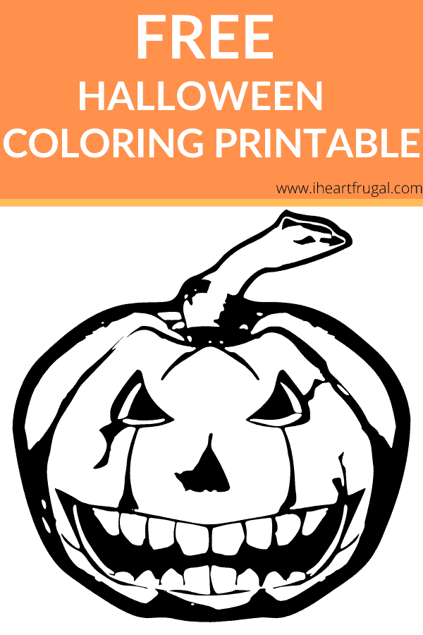 Free Halloween Coloring Printable for your kids to enjoy. #freeprintable #Halloween #kidsart