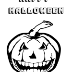 Happy Halloween Spooky Coloring Free Printable -for kids. Have fun this Halloween with these fun coloring sheets. #kids #coloringprintable #Halloween2019