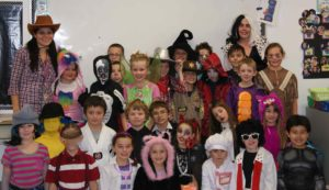 Class Halloween Photo