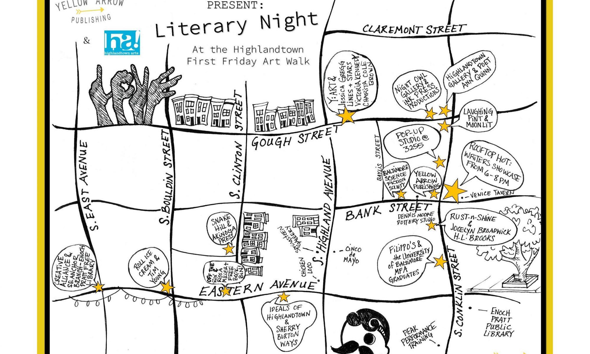 First Friday Art Walk: Aug 2 (LITERARY NIGHT!)