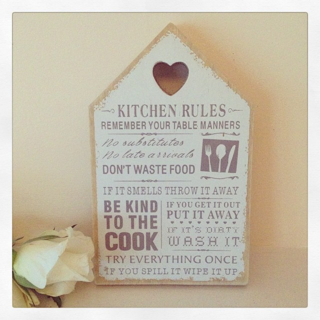 kitchen plaques bridge faucet rules wooden house shaped plaque