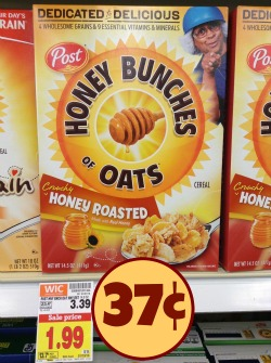 Post Honey Bunches of Oats Deal - Just 37¢ At Kroger!