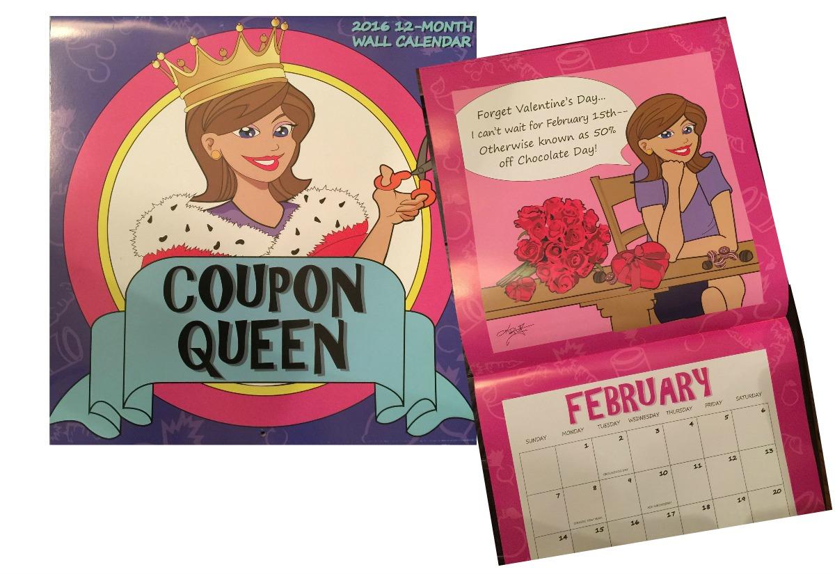win a 2016 coupon queen calendar