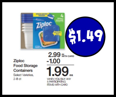 Ziploc Storage Containers 149 In The Kroger Mega Sale