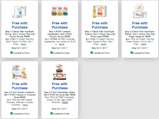 Free digital coupons