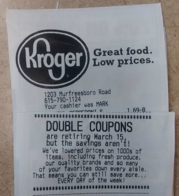 When do coupons double at kroger