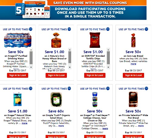 Kroger electronic coupons