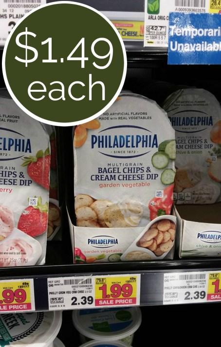 Philadelphia Bagel Chips & Cream Cheese Dip