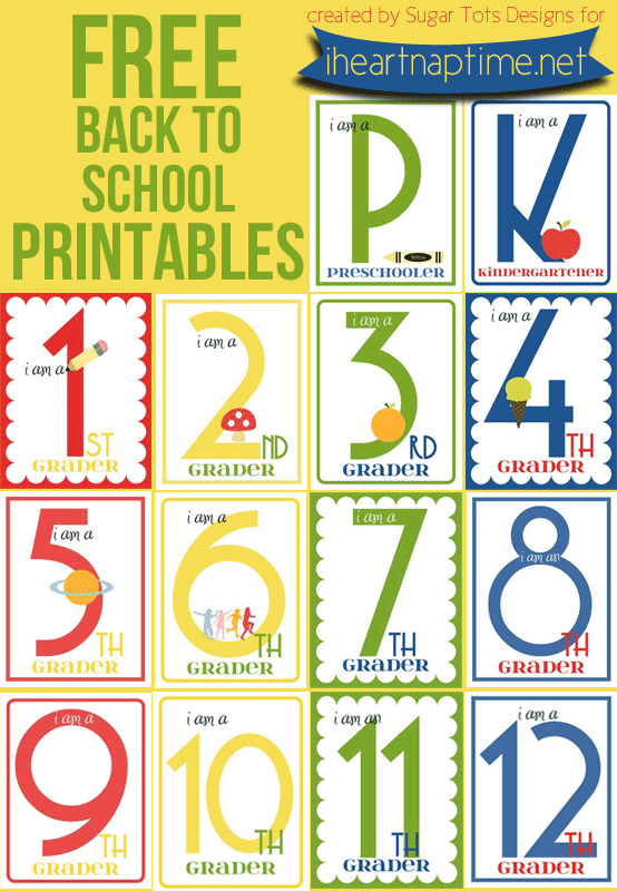 FREE Back to School Printables (K-12) | i heart naptime