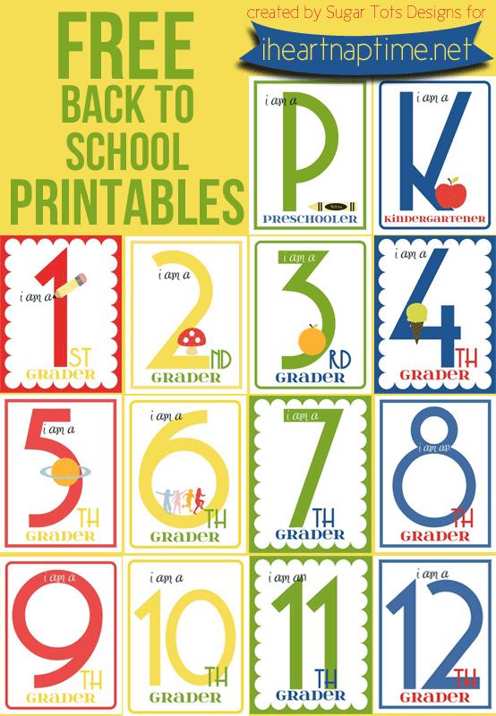 FREE Back to School Printables (K-12) | i heart naptime