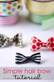 simple hair bow tutorial - heart