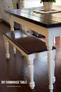 DIY farmhouse kitchen table - I Heart Nap Time