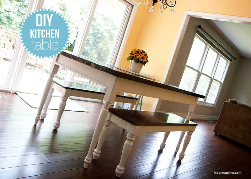 diy kitchen tables cabinets louisville farmhouse table i heart nap time on iheartnaptime com