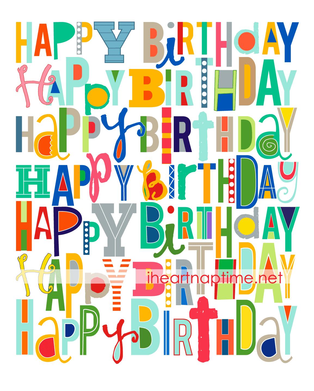 free happy birthday poster