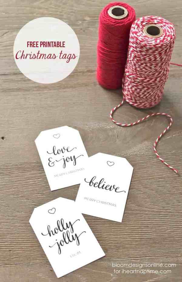 Christmas Gift Tags I Heart Nap Time