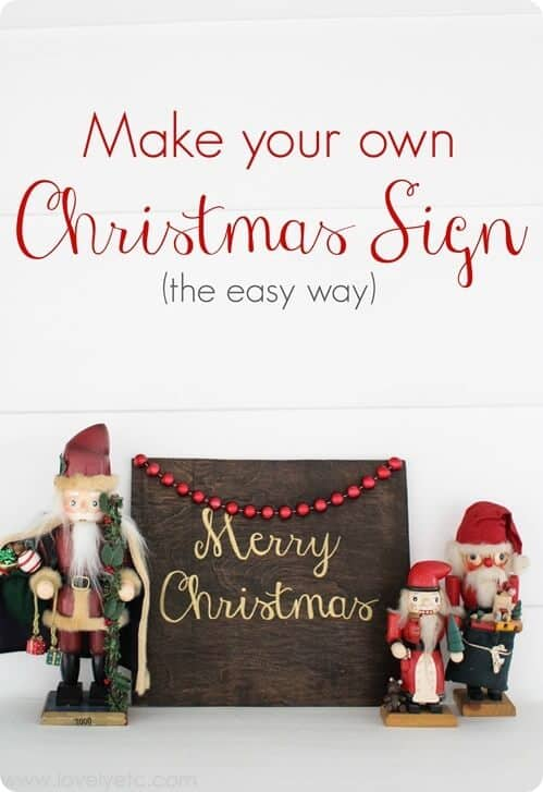 Rustic Glam Christmas Sign  I Heart Nap Time