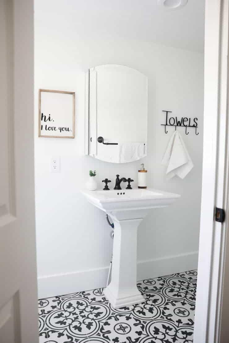 Encaustic Cement Tile Bathroom