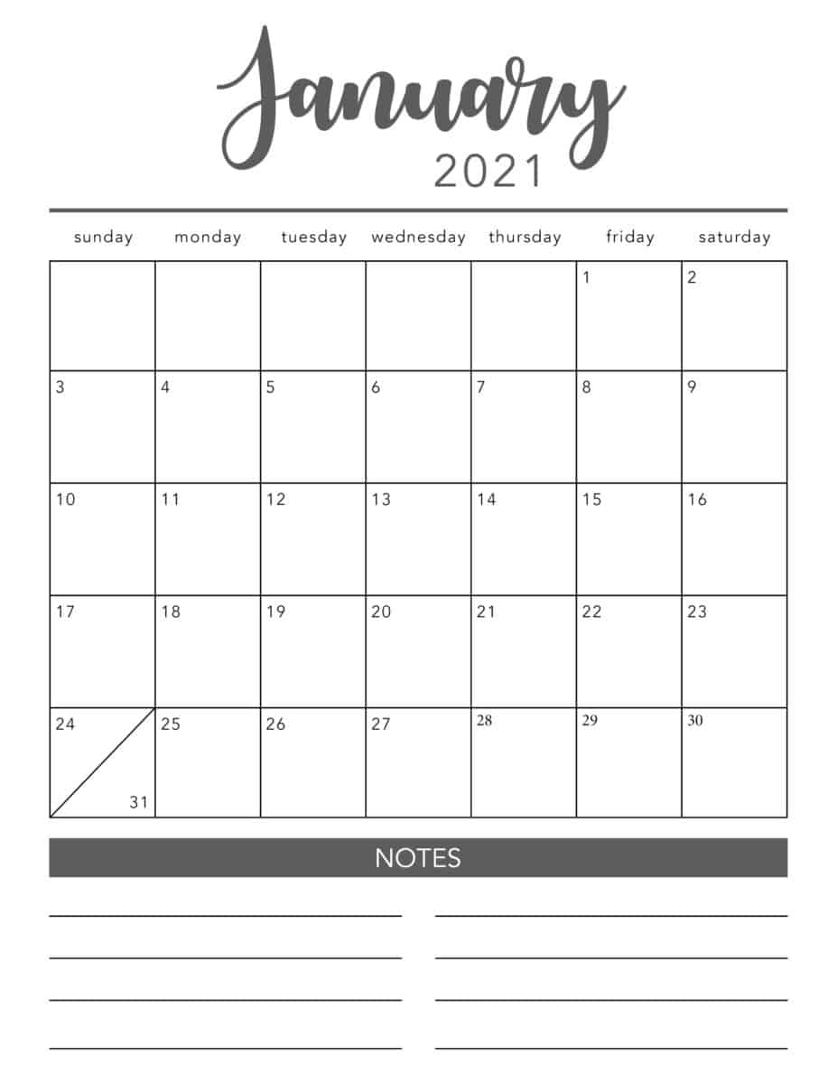 Free 2021 Yearly Calender Template : Calendar 2021 ...