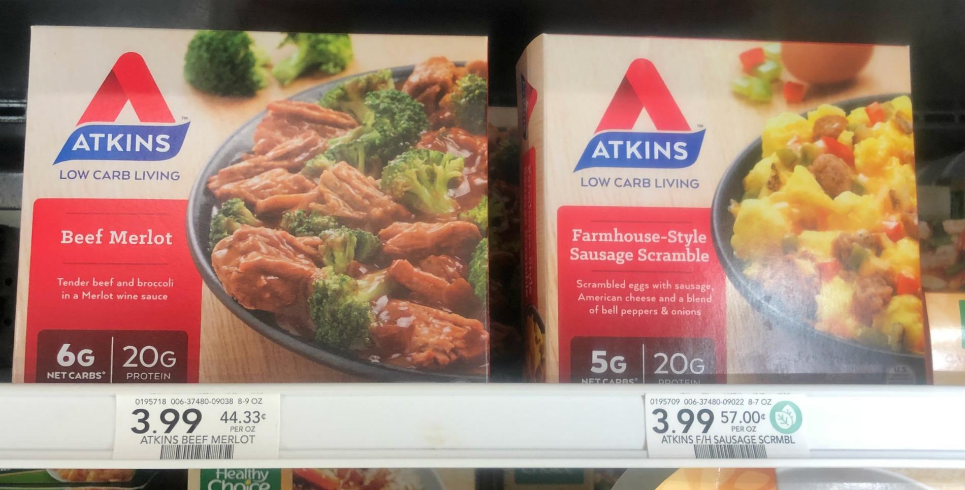 choose atkins frozen meals for a