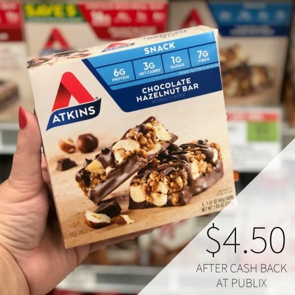 Atkins Snack Bars 4.50 Cash Regular
