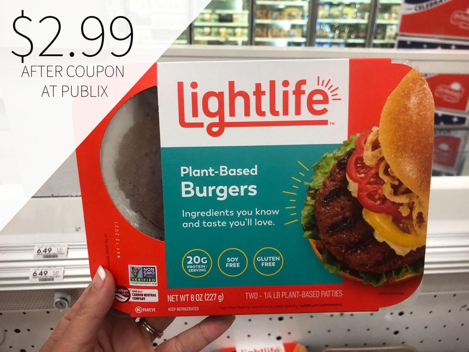 Lightlife Meatless Veggie Burger Just $2.99 (Plant-Based ...