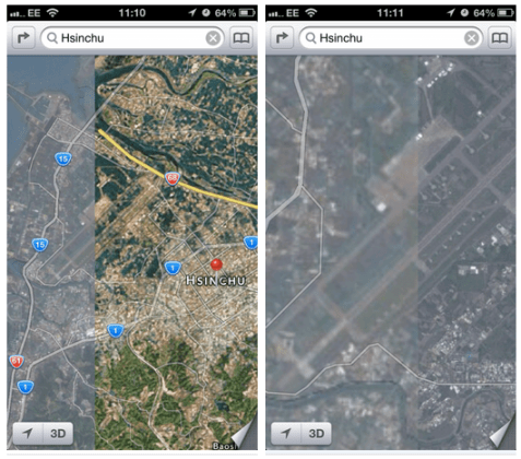 Apple-Maps-Taiwan-military