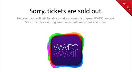 wwdc-13-tickets-sold-out
