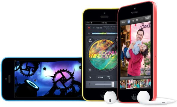 blue yellow pink iPhone 5c