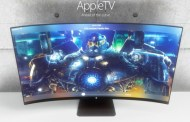 Apple television concept with a curved screen display