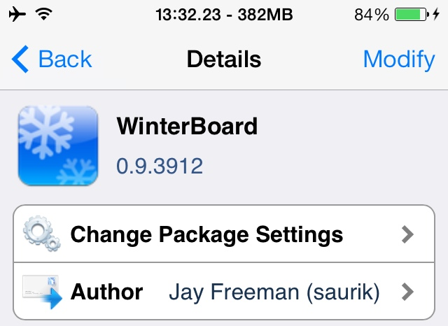 Official Version Of Winterboard For iOS 7 Has Been Released