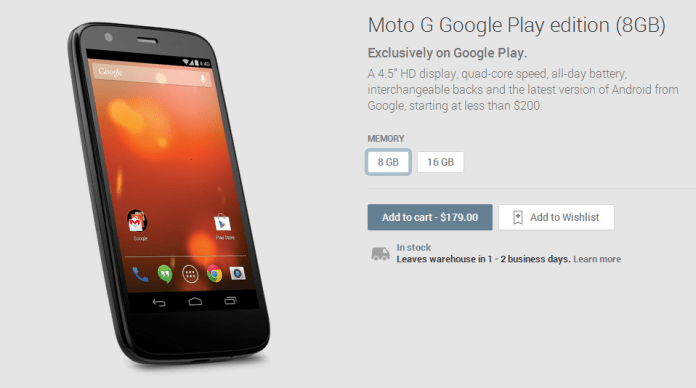 Android 4.4.2 Kitkat on Moto G Google Play Edition