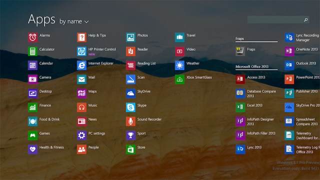 allappsview - Windows 8.1