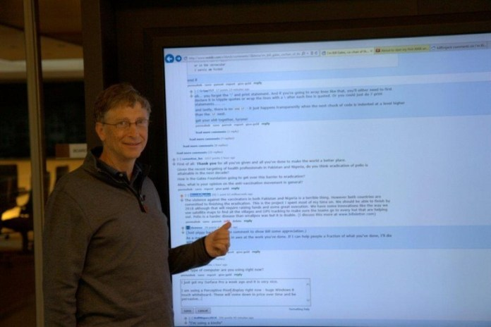 Bill Gates AMA Perceptive Pixel