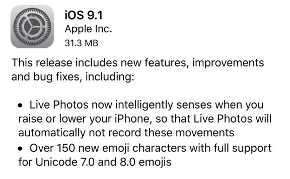 iOS-9.1-release-notes